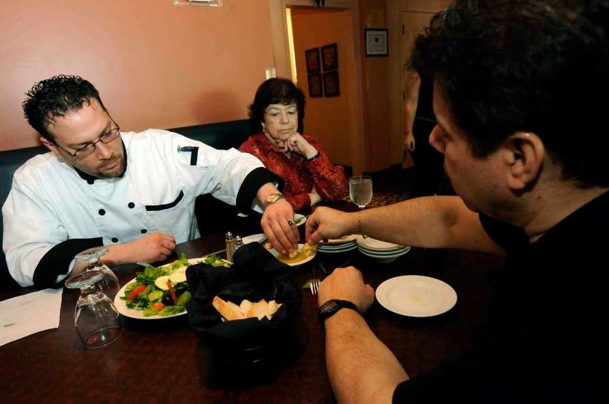Armondo Cioccke, left, chef-owner of Armondo's Villa Tuscan Grill in Rotterdam, and Danny Petrosino, the chef-owner of Osteria Danny in Saratoga Springs, are collaborating to open a contemporary Italian restaurant called Grano at 426 State St., Schenectady.