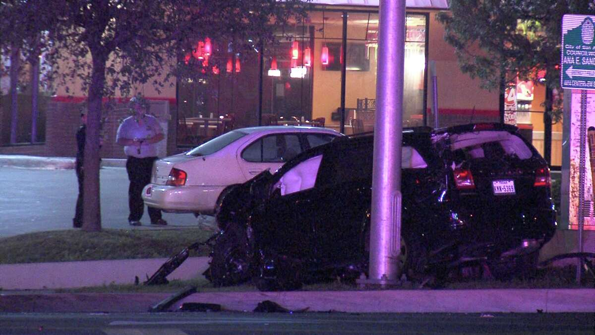 The incident began around 9:50 p.m. when the suspect driver collided with another vehicle at Callaghan Road and Babcock Road. The suspect fled the scene in his dark-colored SUV.