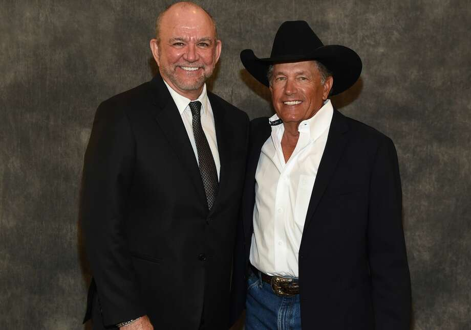 Louis Messina (Messina Touring Group) and George Strait attend George Strait Honored as Texan of the Year at New Braunfels' Chamber of Commerce on March 23, 2018 in New Braunfels, Texas. Photo: R. Diamond/Getty Images For Essential Broadcast Media, LLC