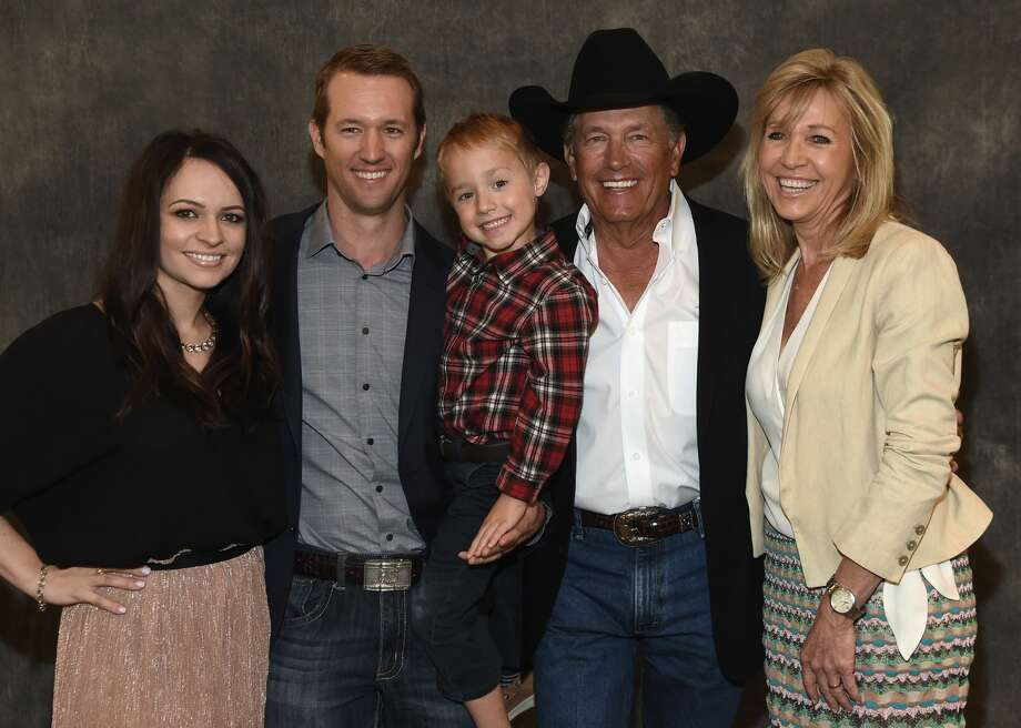 L/R: Tamara Strait, Bubba Strait, Harvey Strait, George Strait and Norma Strait attend  George Strait Honored as Texan of the Year at New Braunfels' Chamber of Commerce on March 23, 2018 in New Braunfels, Texas. Photo: R. Diamond/Getty Images For Essential Broadcast Media, LLC