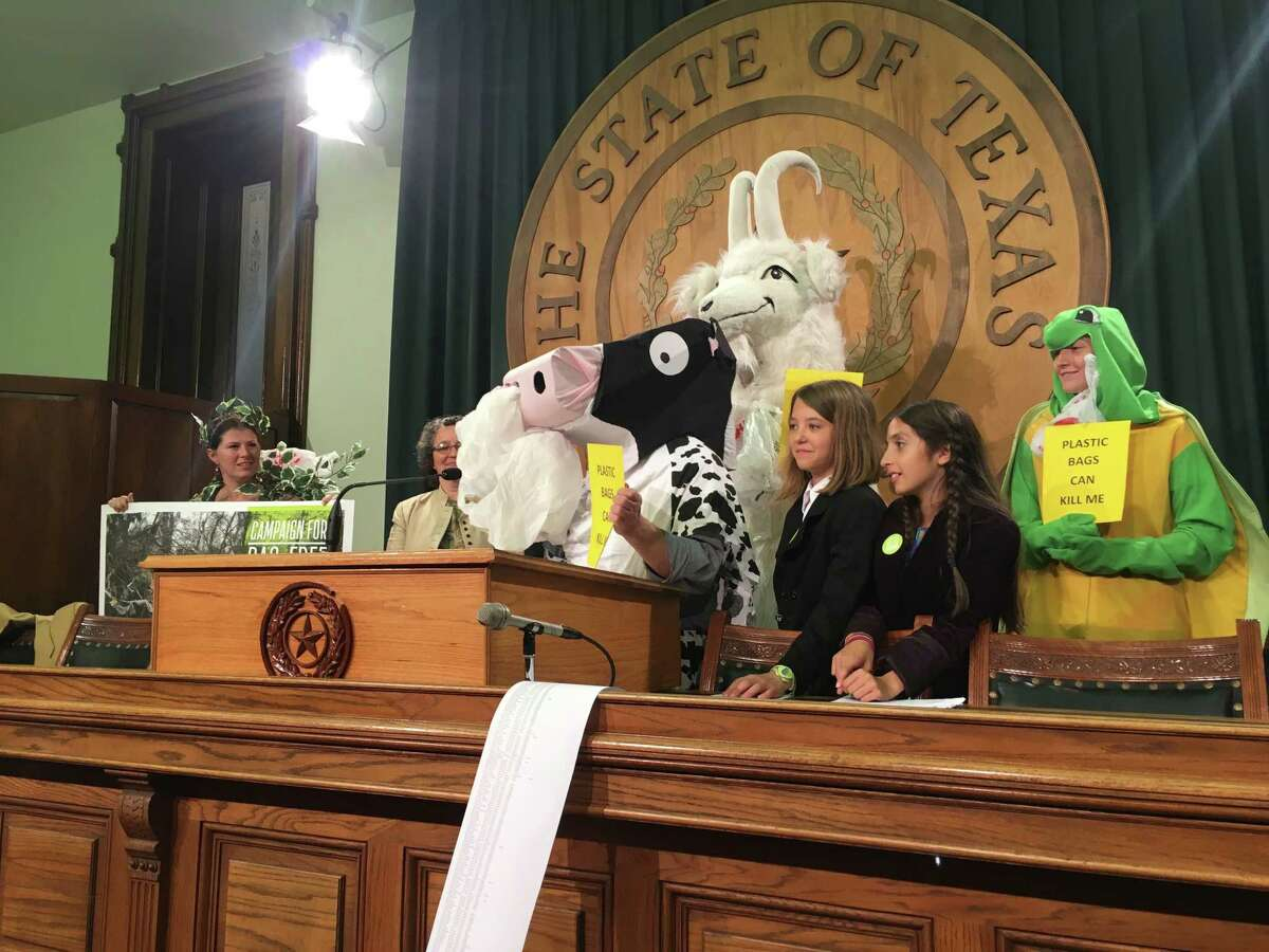 Caoilin Krathaus and Lila Mankad, 12 year old friends and classmates at Hogg Middle School, are sixth graders on a campaign to save the world. They enjoy typical hobbies such as reading, being outdoors, and camping, but they also have a common goal to make Houston more sustainable and waste free by starting a plastic bag ordinance.