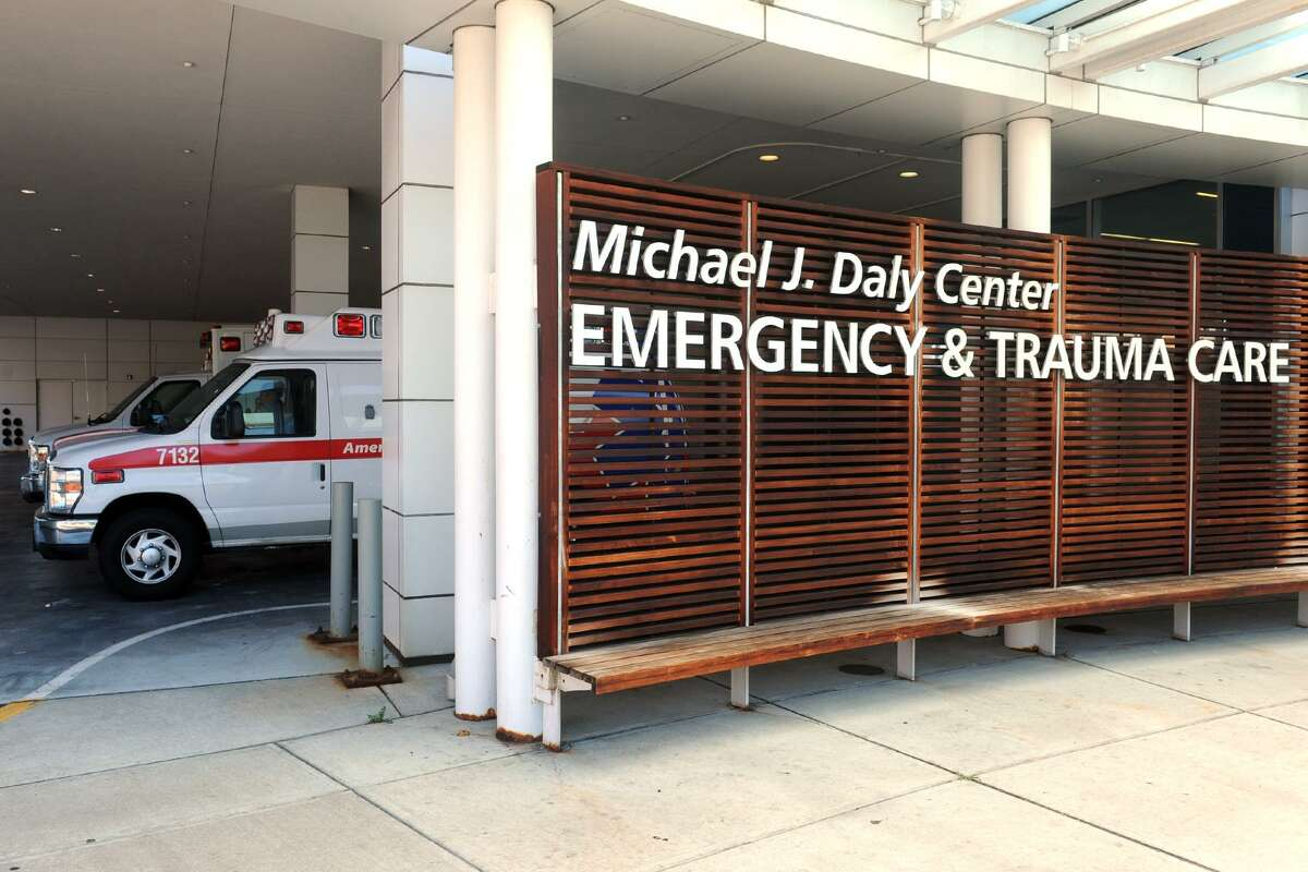 The exterior of the Michael J. Daly Emergency & Trauma Care Center at St. Vincent's Medical Center, in Bridgeport.