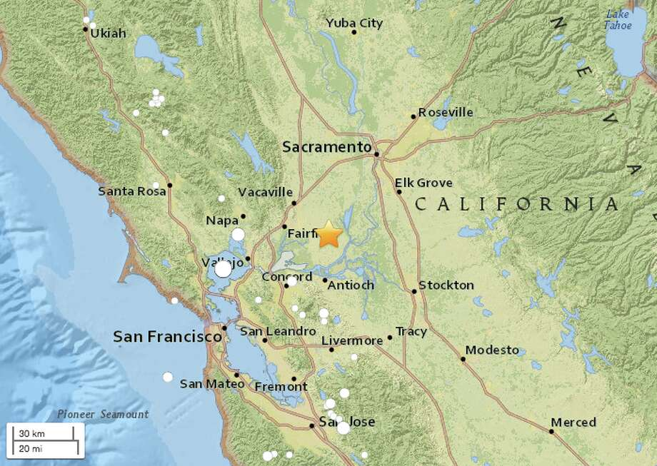 Magnitude 2 8 Earthquake Strikes Near Rio Vista Ca Sfgate