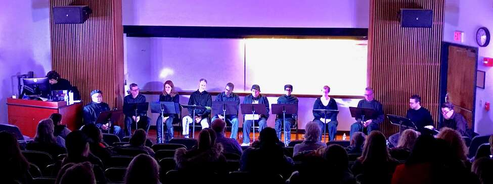Cast members of a staged reading of
