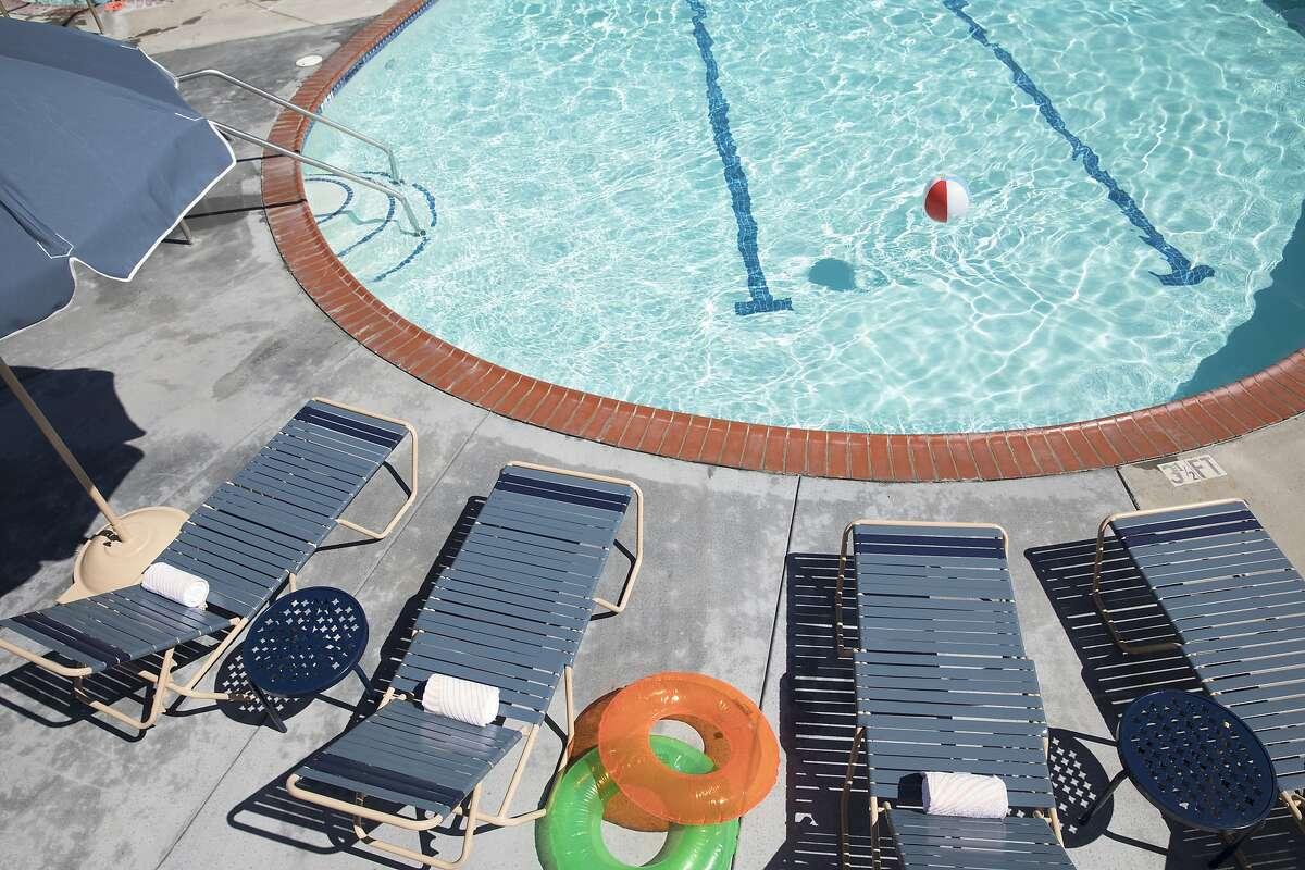 The pool at the Sandman Hotel in Santa Rosa