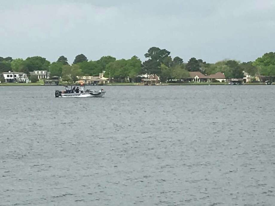 The Montgomery County Precinct 1 Constable's Office Lake Division is currently searching for a missing fisherman on Lake Conroe on Tuesday. Photo: Montgomery County Precinct 1