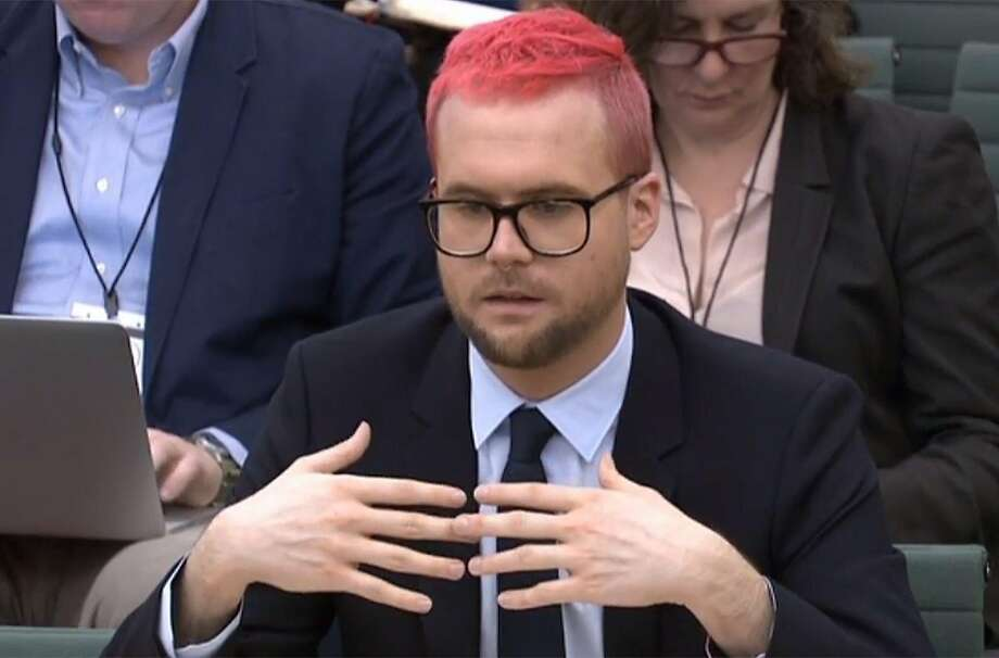 Cambridge Analytica whistle-blower Chris Wylie testifies before a British Parliament committee. Photo: PRU;Pru / AFP / Getty Images