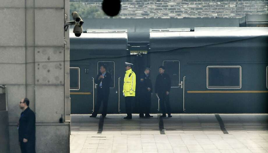 A special armored train that traveled from North Korea sits at the Beijing Railway Station. China confirmed, after days of speculation, that President Kim Jong Un was its VIP passenger. Photo: Associated Press