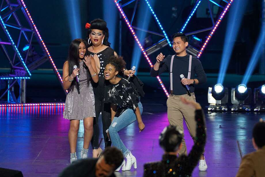 """San Antonio's Ada Vox, second from left, sailed through Hollywood Week, which included this triumphant group moment. Tonight, viewers will find out if she's in the Top 24 of """"American Idol."""" Photo: Eric McCandless /ABC /ABC / © 2018 American Broadcasting Companies, Inc. All rights reserved."""