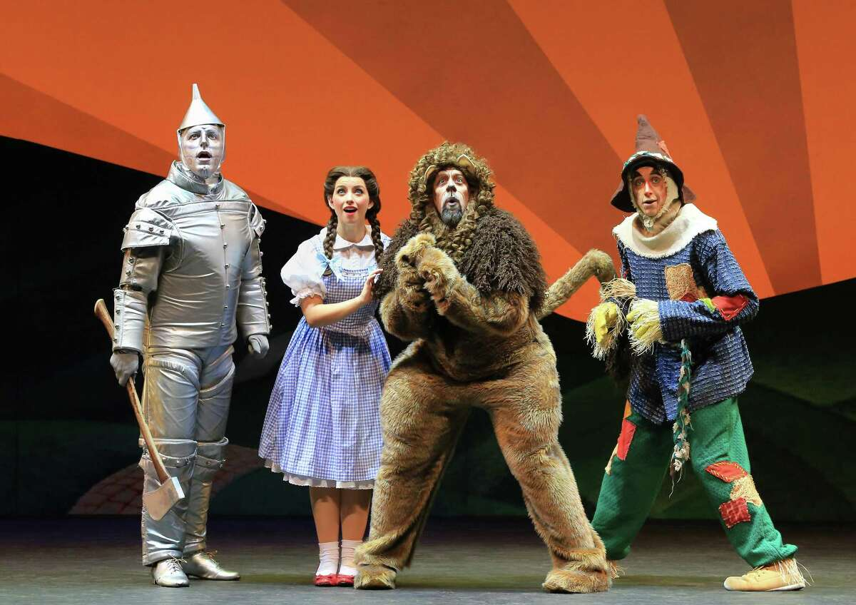 Tin Man (Christopher Russell), Dorothy (Kailee Kaimann), Lion (Victor Legarreta) and Scarecrow (Chris Duir) get ready for the trip down the yellow road.