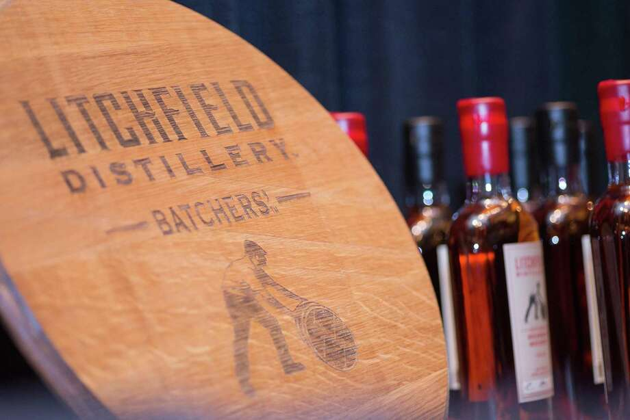 A sign for Litchfield Distillery at Whiskey Union. Photo: Mohegan Sun / Contributed Photo