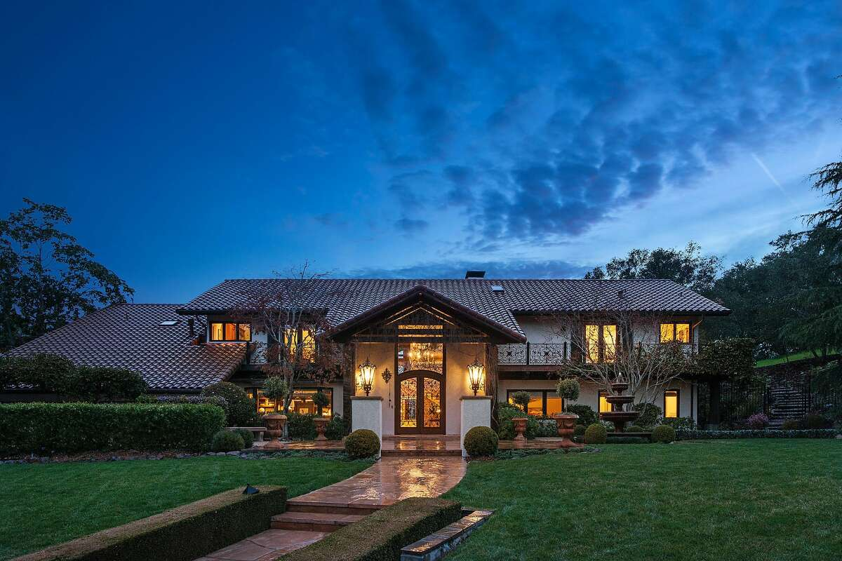 The five-bedroom rests on more than 5 acres in Orinda's Sleepy Hollow neighborhood.