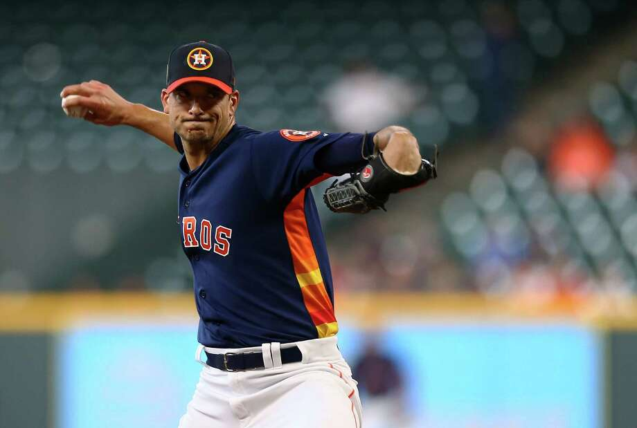 Houston Astros starting pitcher Charlie Morton (50) pitches against the Milwaukee Brewers during the first inning of an MLB exhibition game at Minute Maid Park Tuesday, March 27, 2018, in Houston. Photo: Godofredo A. Vasquez, Houston Chronicle / Godofredo A. Vasquez