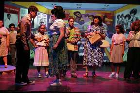 "Scenes from Albany High School's production of ""Hairspray."""