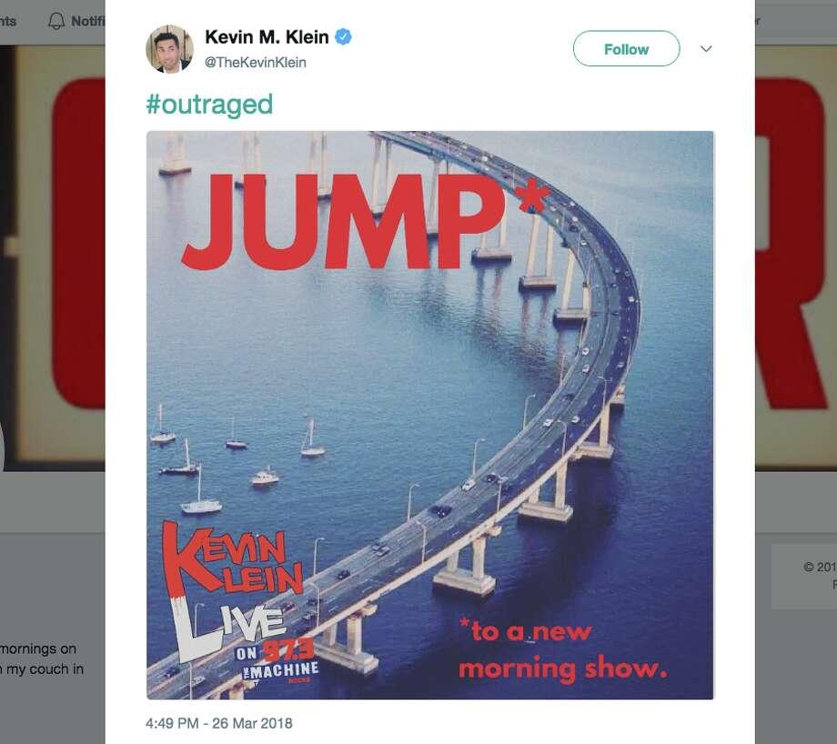 Twitter / Kevin Klein Photo: Twitter / Kevin Klein
