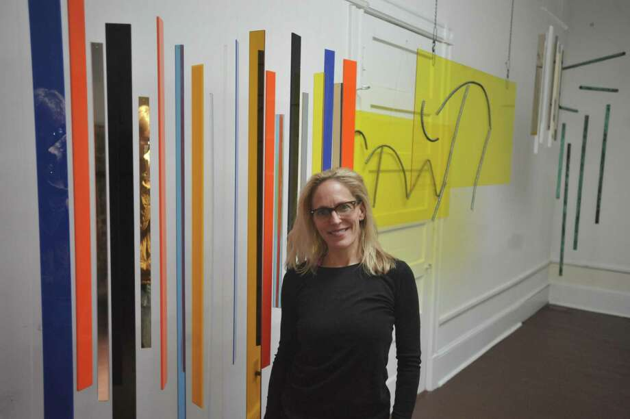 Litchfield native Jennifer Abbott-Tillou has come to Torrington to open a new gallery on Main Street and share a sense of motion and sentiment with her artwork. Photo: Ben Lambert / Hearst Connecticut Media