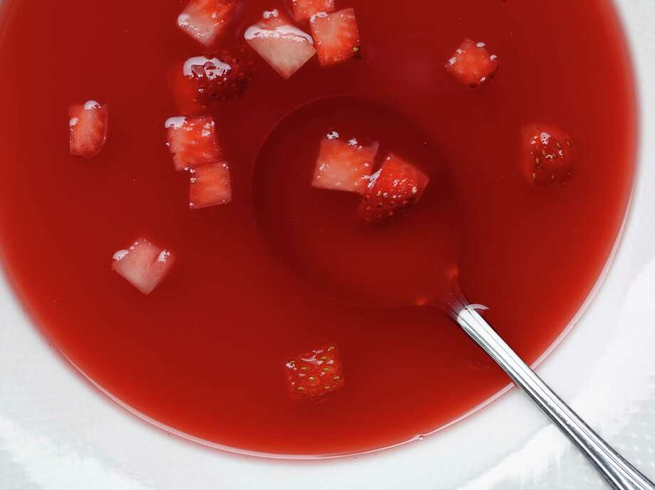 Strawberry Rhubarb Soup Photo: Courtesy Phil Mansfield / © 2014 The Culinary Institute of America - Phil Mansfield