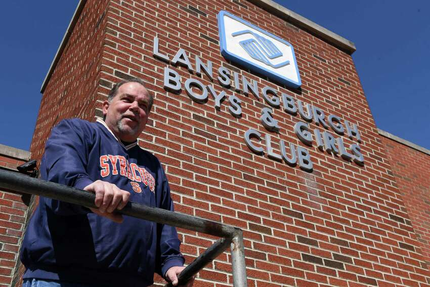 Mike Manupella, executive director of the Lansingburgh Boys and Girls and Boys Club, stands outside the facility on Monday, March 26, 2018, in the Lansingburgh neighborhood of Troy, N.Y. (Will Waldron/Times Union)