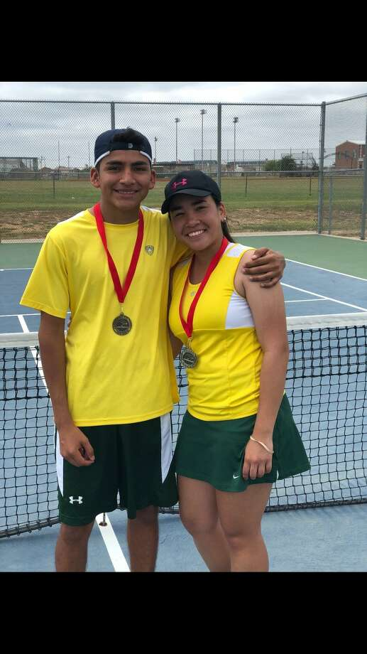 The brother and sister mixed doubles team of Manuel and Amor Barrera were the champions in the UISD Spring Invitational Tennis Tournament. Photo: Courtesy Photo