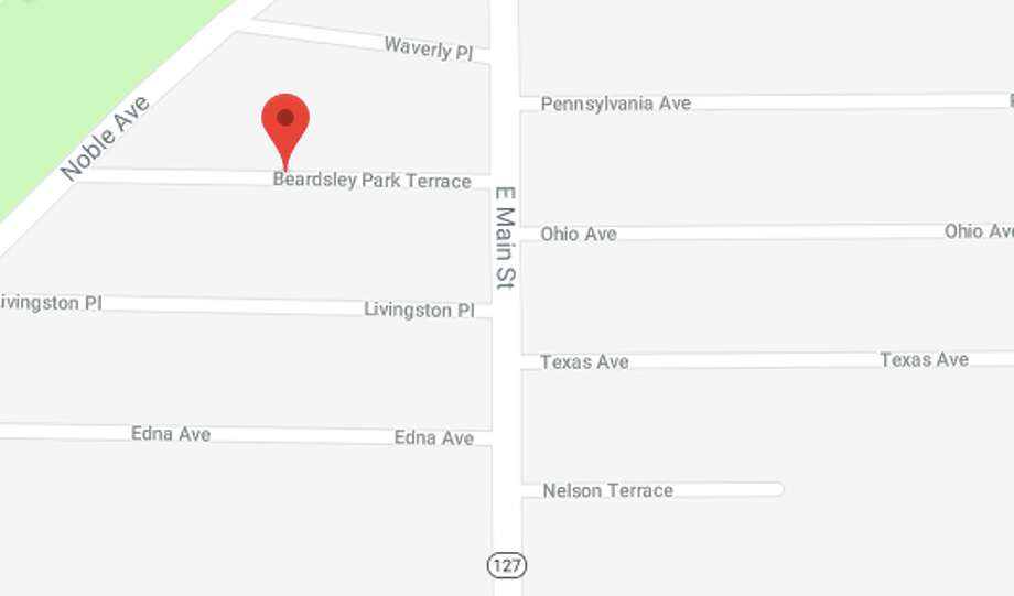 Bridgeport police and fire units responded to the area of Beardsley Park Terrace and East Main Street for a reported hit-and-run involving a school bus on Tuesday, March 27. Photo: Google Maps