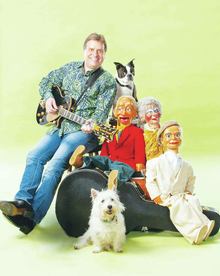 Ventriloquist Todd Oliver, with his dog-with-an-attitude Boston terrier, Irving, and friends are coming to Alton Little Theater Friday, April 6, through Sunday, April 8. Photo: For The Telegraph