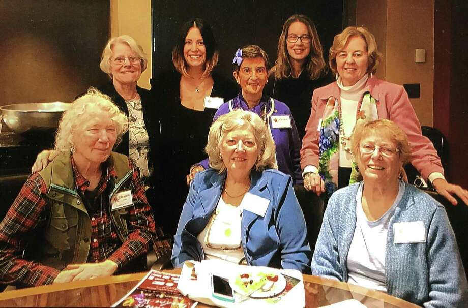 The New Milford Garden Club recently participated in the 2018 Connecticut State Federated Flower and Garden Show at the Hartford Convention Center. In attendance were, from left to right, in front, Elizabeth O'Connor, Virginia Driscoll and club president Janet Parsons, and in back, Ann Stone, Andrea Johnson, Barbara Clark, Carolyn Heaton and Sandra Gammons. Photo: Courtesy Of Barbara Clark / The News-Times Contributed