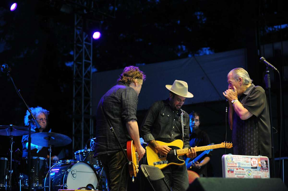 Ben Harper and harmonica master Charlie Musselwhite performing on the Citi Stage at BottleRock Napa Valley Saturday evening. May 11, 2013.
