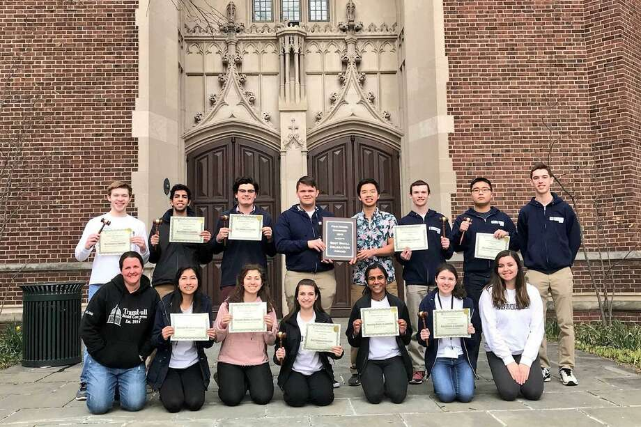 Trumbull High School's Model Congress team brought home the top honor at the 21st Penn Model Congress competition last weekend for the first time in school history. Photo: Contributed Photo / Contributed Photo / Connecticut Post Contributed