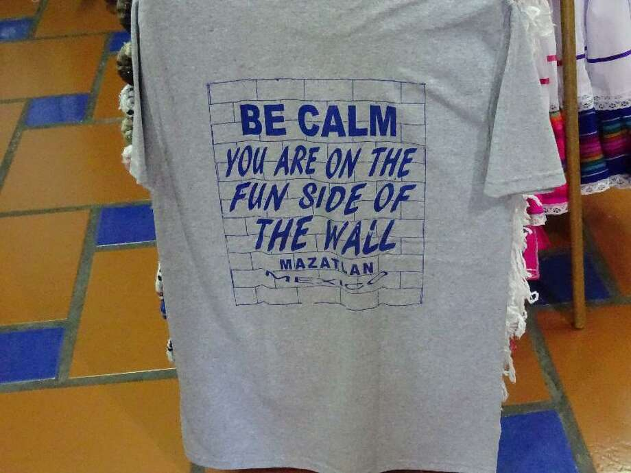Kent Peterson brought back this T-shirt from Mazatlan, Mexico. Photo: Kent Peterman / Special To The Chronicle