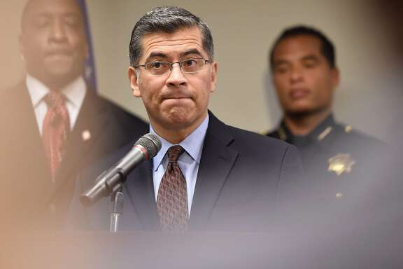 California Attorney General Xavier Becerra speaks to members of the media about the investigation of the shooting death of Stephon Clark in Sacramento, California on March 27, 2018.    Clark, who was unarmed, was shot and killed by police officers at his grandmother's home. / AFP PHOTO / JOSH EDELSONJOSH EDELSON/AFP/Getty Images