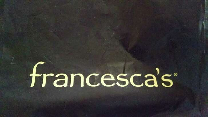A plastic bag from the Houston-based retail chain Francesca's.