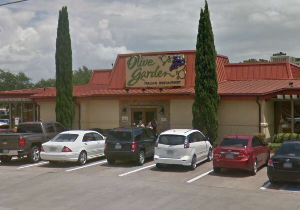 Olive Garden  7525 Farm to Market 1960 Rd W Houston, TX 77070 Demerits: 18 Inspection Highlights: Observed slimy water in groove under ice-machine lids and black residue and yellow slime in the chute of ice maker. Clean/ maintain ice making machine to prevent contamination of the ice. Condemned approximately 3,000 pounds of ice.
