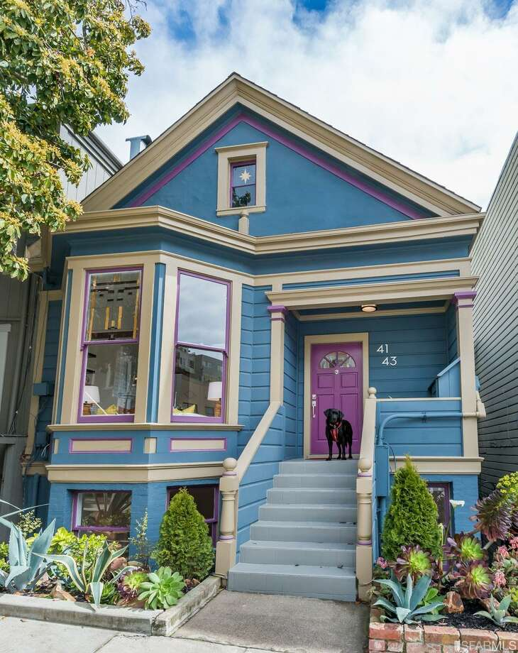 Cute dog staging, bright colors, and east-facing views in this Castro duplex, asking $1.495M Photo: Kevin Ho /Vanguard Properties •Jonathan McNarry/ Vanguard Properties