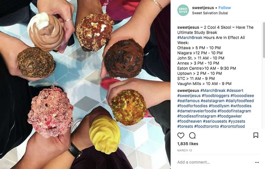Ice cream chain Sweet Jesus shares images of its dessert creations on social media. The company is facing backlash and boycotts for its name and branding. Photo: Sweet Jesus Via Instagram