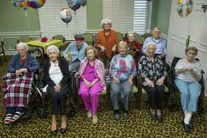 Ten centenarians are celebrated at Clarewood House Senior Community, Monday, March 26, 2018, in Houston.  ( Mark Mulligan / Houston Chronicle )