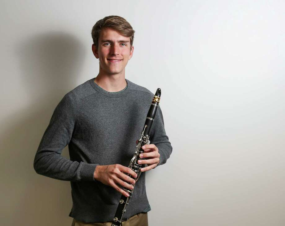 The Woodlands senior Brandon Wiley poses for a portrait on Friday, March 16, 2018. Wiley has been chosen to perform with the top high school musicians around the world as the Clarinet Representative of North America in July at the Sydney Opera House in Australia. Photo: Michael Minasi, Staff Photographer / © 2018 Houston Chronicle