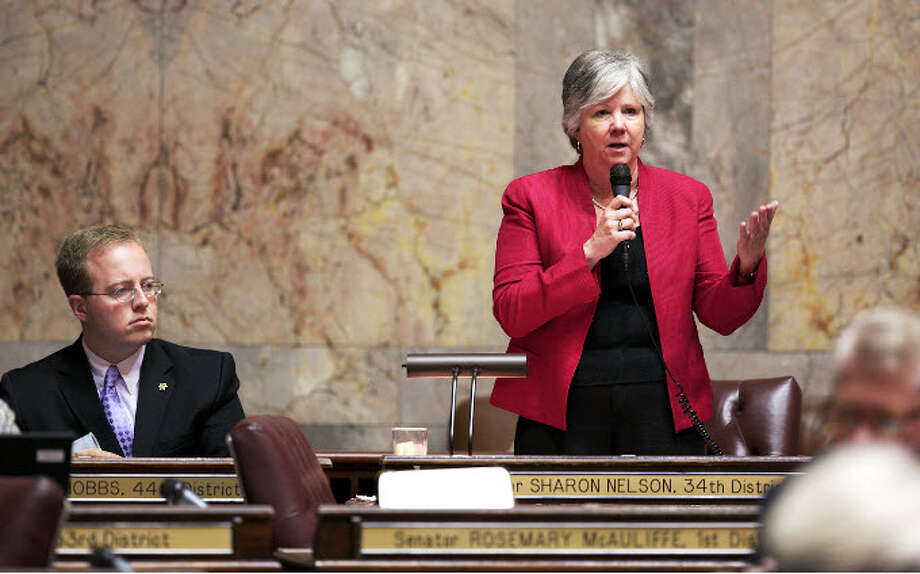 State Senate Majority Leader Sharon Nelson, D-Vashon Island, bowed out of the Washington Legislature. State Sen. Andy Billig, D-Spokane, will take over ahead of the next legislative session in January. Photo: Washington State Democrats