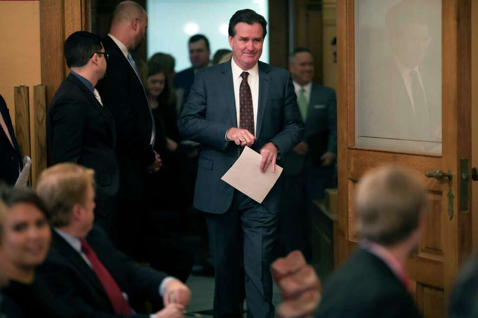 New York state Sen. John J. Flanagan, the Republican leader, at the Capitol, in Albany, N.Y., Feb. 13, 2018. The Senate has been told by the state comptroller?'s office that it plans to reject future requests for lucrative stipend payments as a result of false committee titles attributed to senators, though Flanagan has strenuously argued in the past that such stipends are legal. (Nathaniel Brooks/The New York Times)