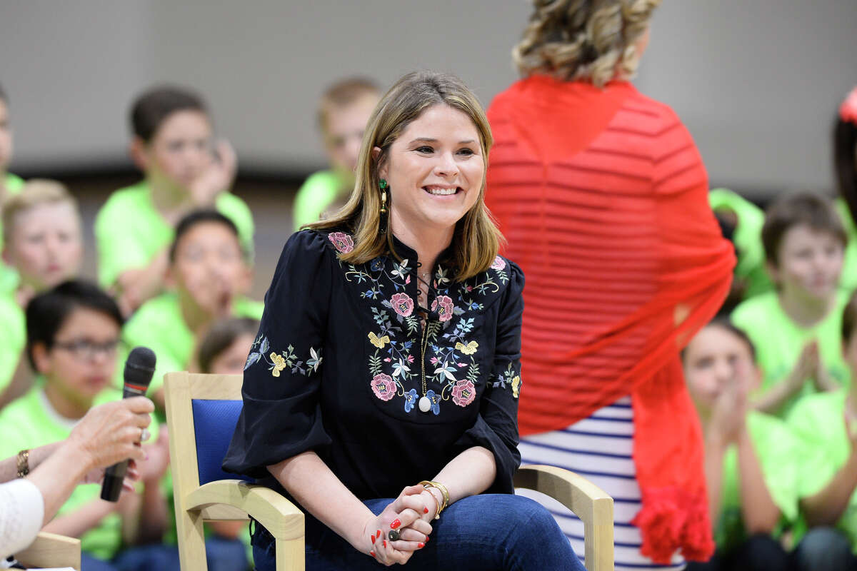 Jenna Bush Hager visited the Trinity School to show support for the students and their charitable programs, March 27, 2018. James Durbin/Reporter-Telegram