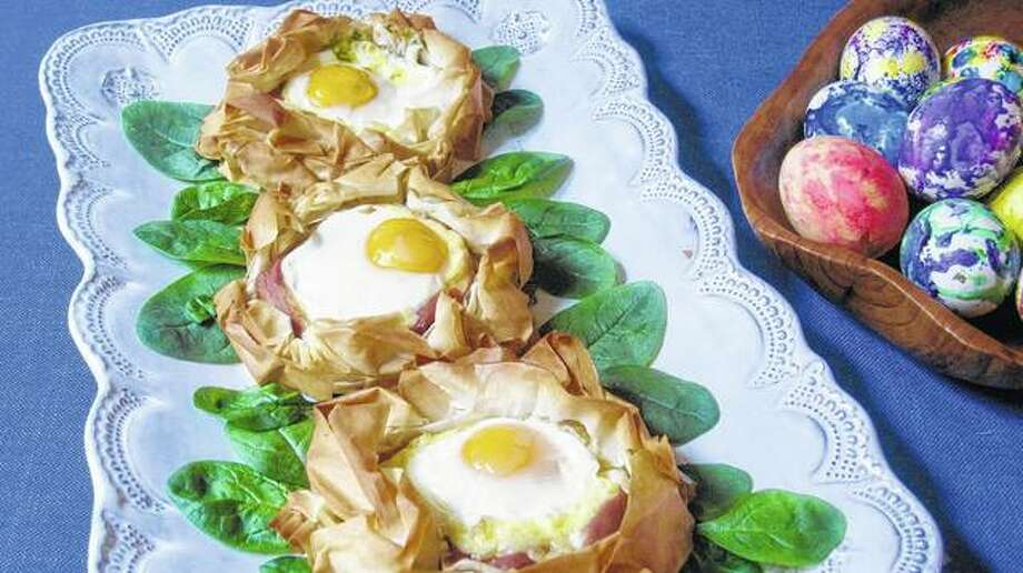 Eggs baked in pastry nests made of phyllo are easy to make but look much harder. Photo: Sara Moulton | Associated Press
