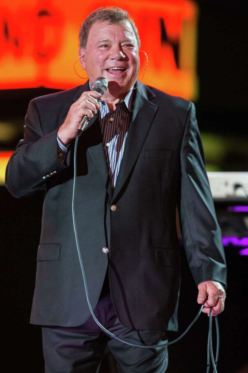 William Shatner performs on stage at the Hollywood Christmas Parade, on Sunday, Dec. 1, 2013 in Los Angeles. (Photo by Paul A. Hebert/Invision/AP) ORG XMIT: CAPH103