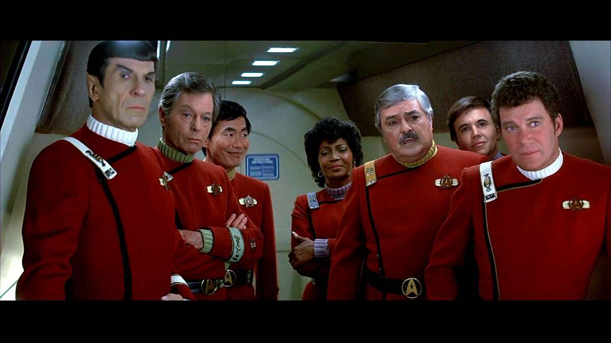 William Shatner, right, and the cast of