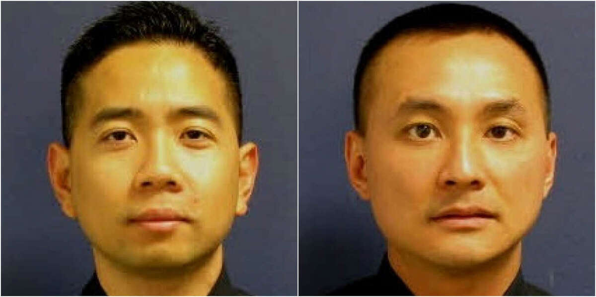 Former Houston Police Officers H. Ly and  L. Nguyen were among the 22 people charged, with money laundering, capping a year-long investigation into illegal gambling operations in the Chinatown area.
