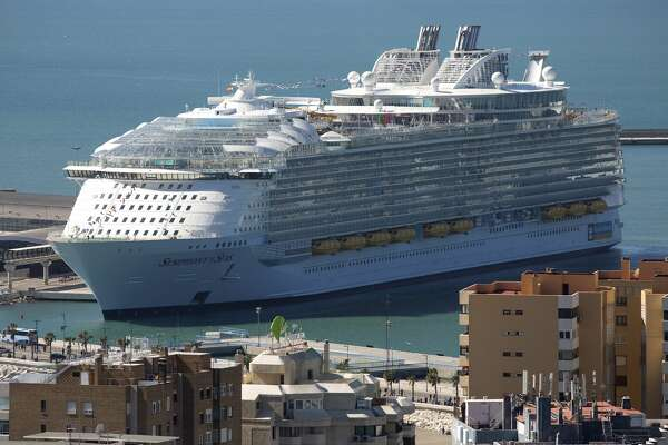 The Royal Caribbean's Symphony of the Seas during its presentation in Malaga, Spain.