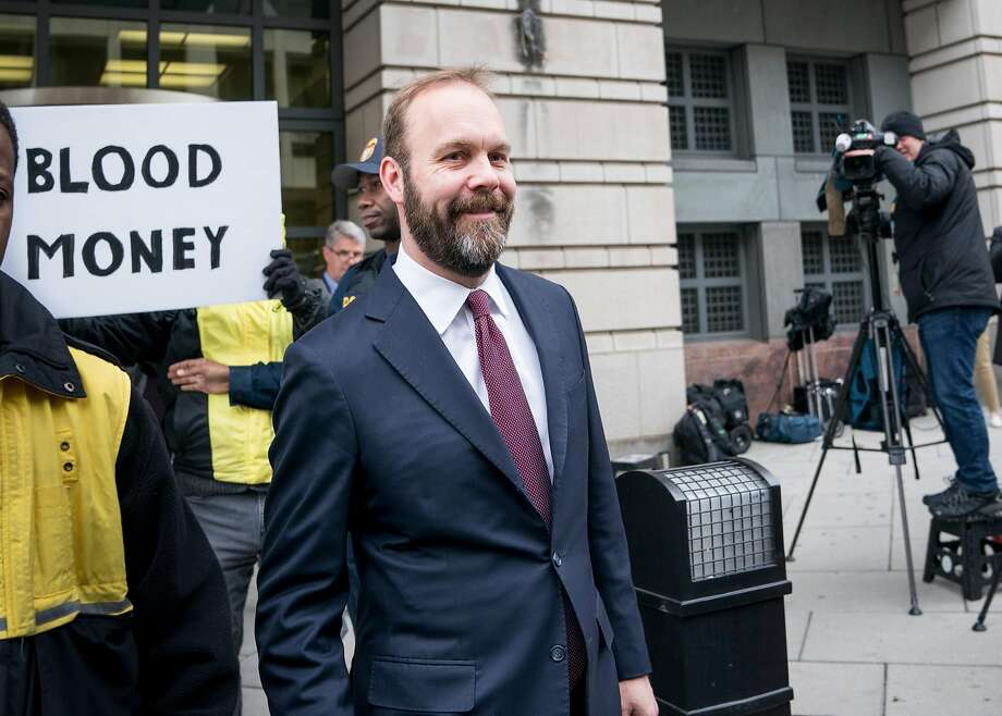 FILE-- Rick Gates, a longtime protégé and junior partner of Donald Trump's presidential campaign chairman Paul Manafort, leaves the E. Barrett Prettyman federal courthouse in Washington, Feb. 23, 2018. Gates had repeated communications during the final weeks of the 2016 presidential race with a business associate tied to Russian intelligence, according to a document released on March 28, 2018, by the special counsel investigating Russian interference in the election. (Erin Schaff/The New York Times) Photo: ERIN SCHAFF, NYT