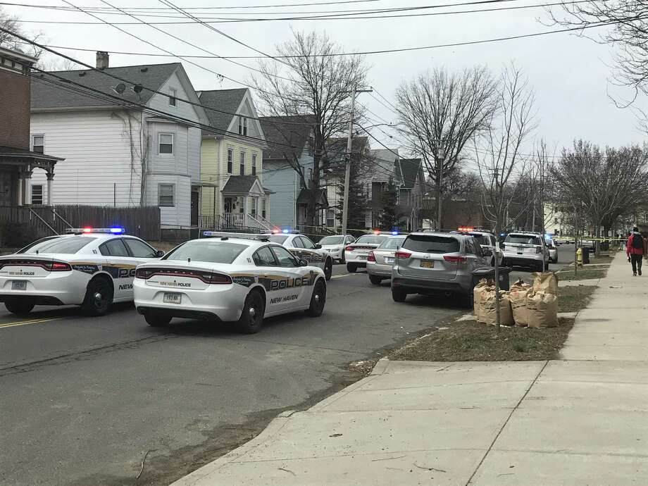 Detectives are investigating a shooting in the Dixwell neighborhood Wednesday morning. Photo: By Jessica Lerner