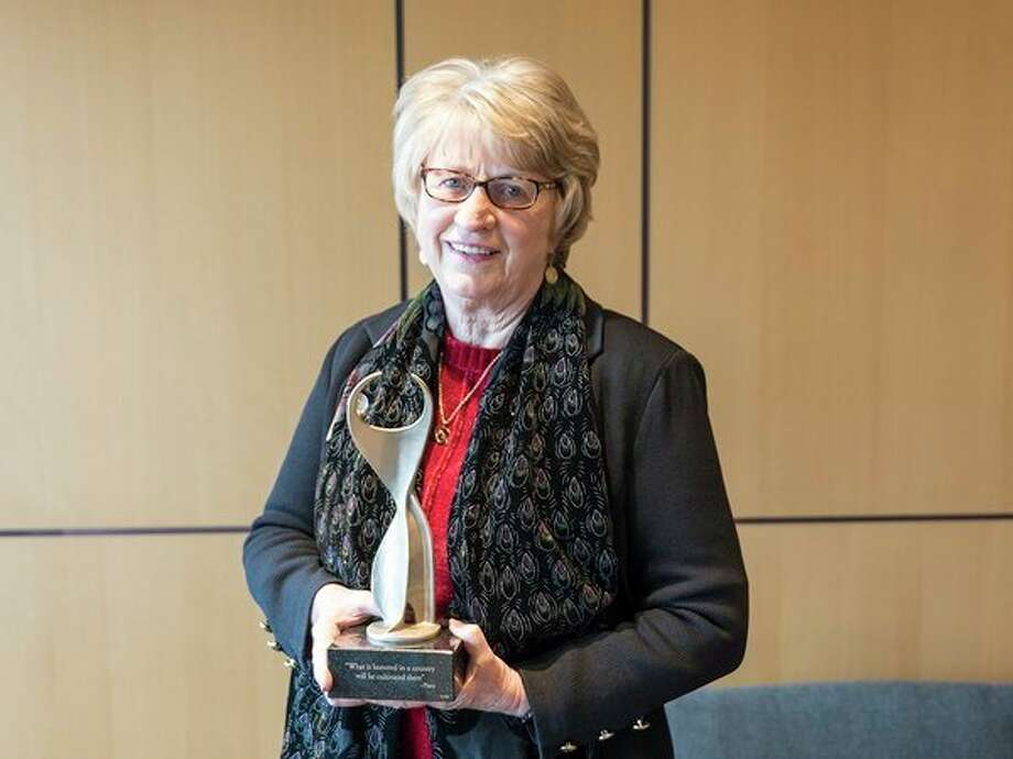 Jean Goodnow, president of Delta College, received the 29th annual ATHENA Award presented by the Bay Area Chamber of Commerce. (Photo provided)