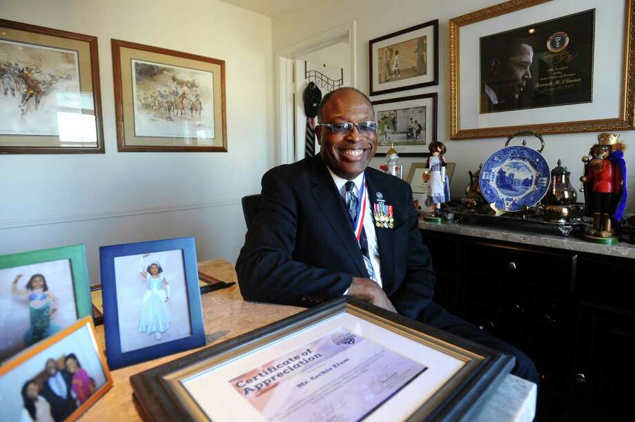 Archie Elam, a U.S. Army veteran, opposes the idea of Stamford schools having a half-day on Memorial Day. Photo: Michael Cummo / Hearst Connecticut Media / Stamford Advocate