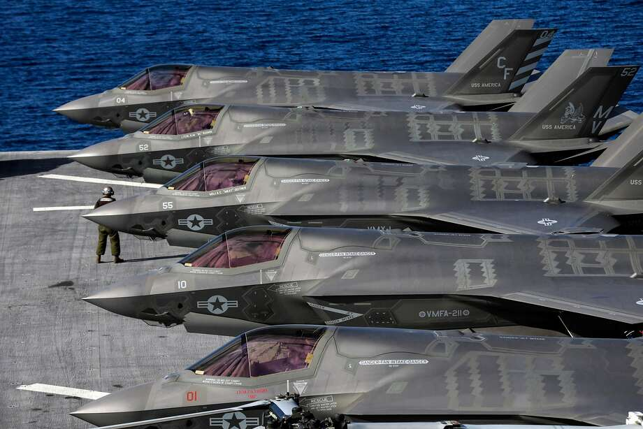 Lockheed Martin's F-35B Lightning II aircraft were  funded in the budget though the president complained about their cost. Photo: Irfan Khan / TNS / Los Angeles TImes