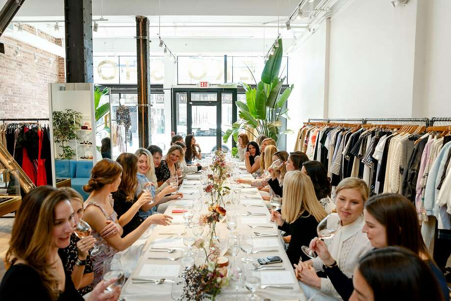 Guests enjoyed a sit-down lunch catered by Merchant Roots at Hero Shop for Brock Collection on March 26 2018. Photo: Drew Altizer Photography